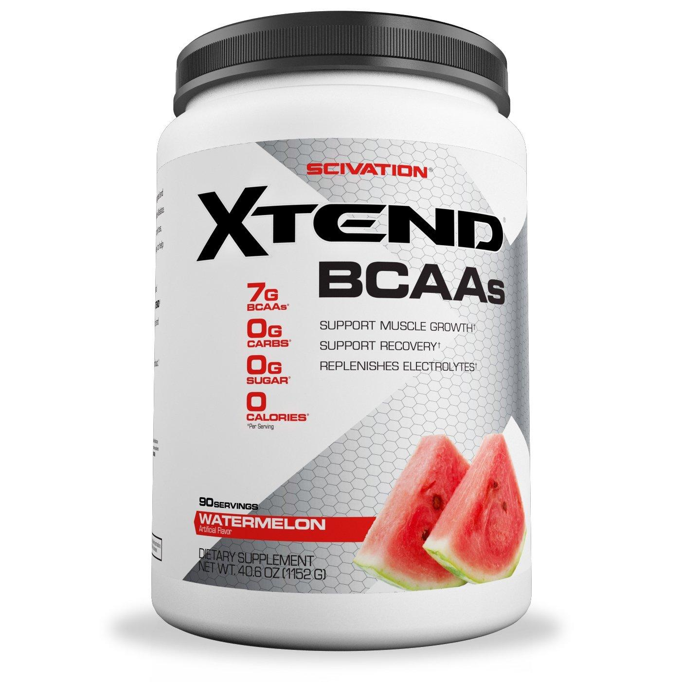 Scivation Xtend BCAAs for Muscle Growth and Strength Watermelon 90 Servings With Free Gift