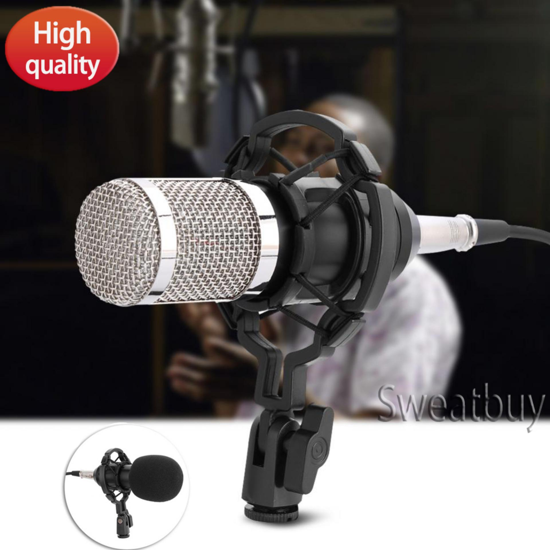 Professional Audio Condenser Microphone Set Studio Sound Recording Mic with Shock Mount - intl(Black)