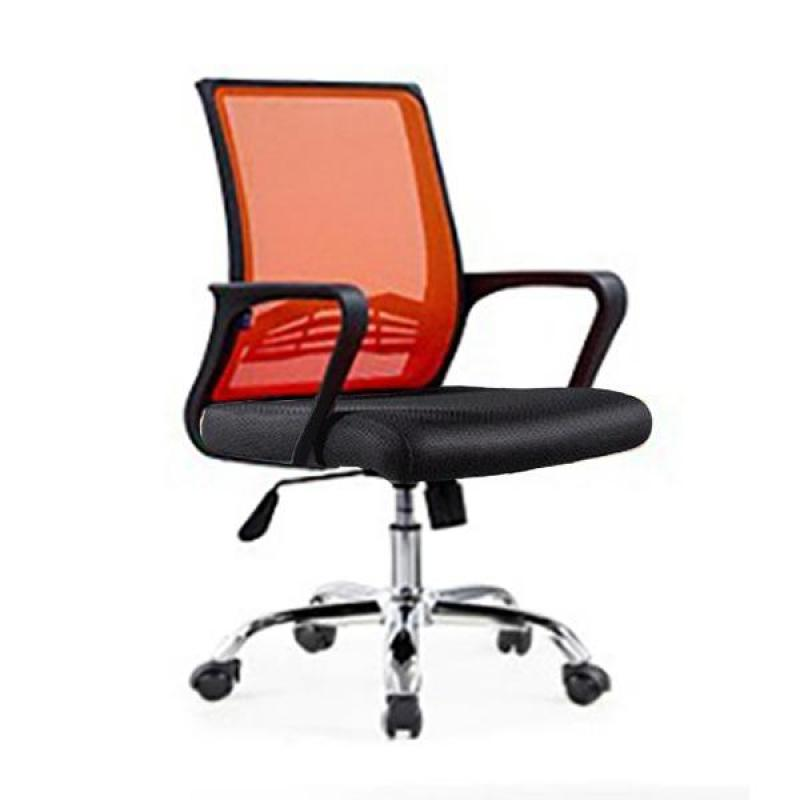 Bently Office Chair C20 (Black/Orange),delivery-weekdays before 6pm Singapore