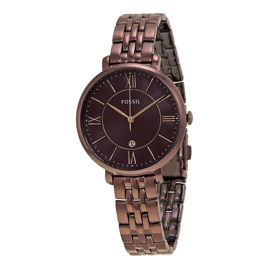 Affordable Fossil Perfect Multifunction Stainless Steel Watch Es3883 Fs4787 Women Es4100 Jacqueline Three Hand Date Wine