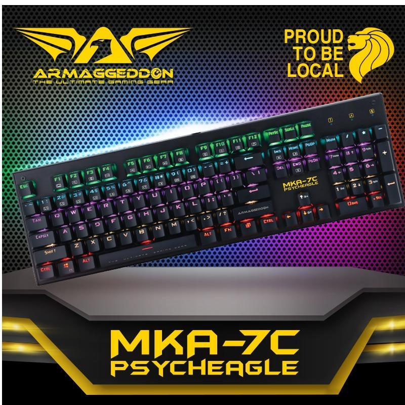 Armaggeddon MKA-7C PsychEagle  Mechanical keyboard with kevlar keycaps(Blue Switched) Singapore