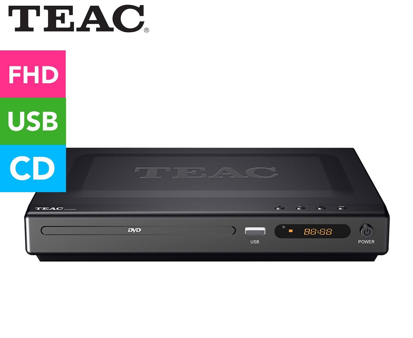 TEAC DVD Player w/ USB Media Playback Black