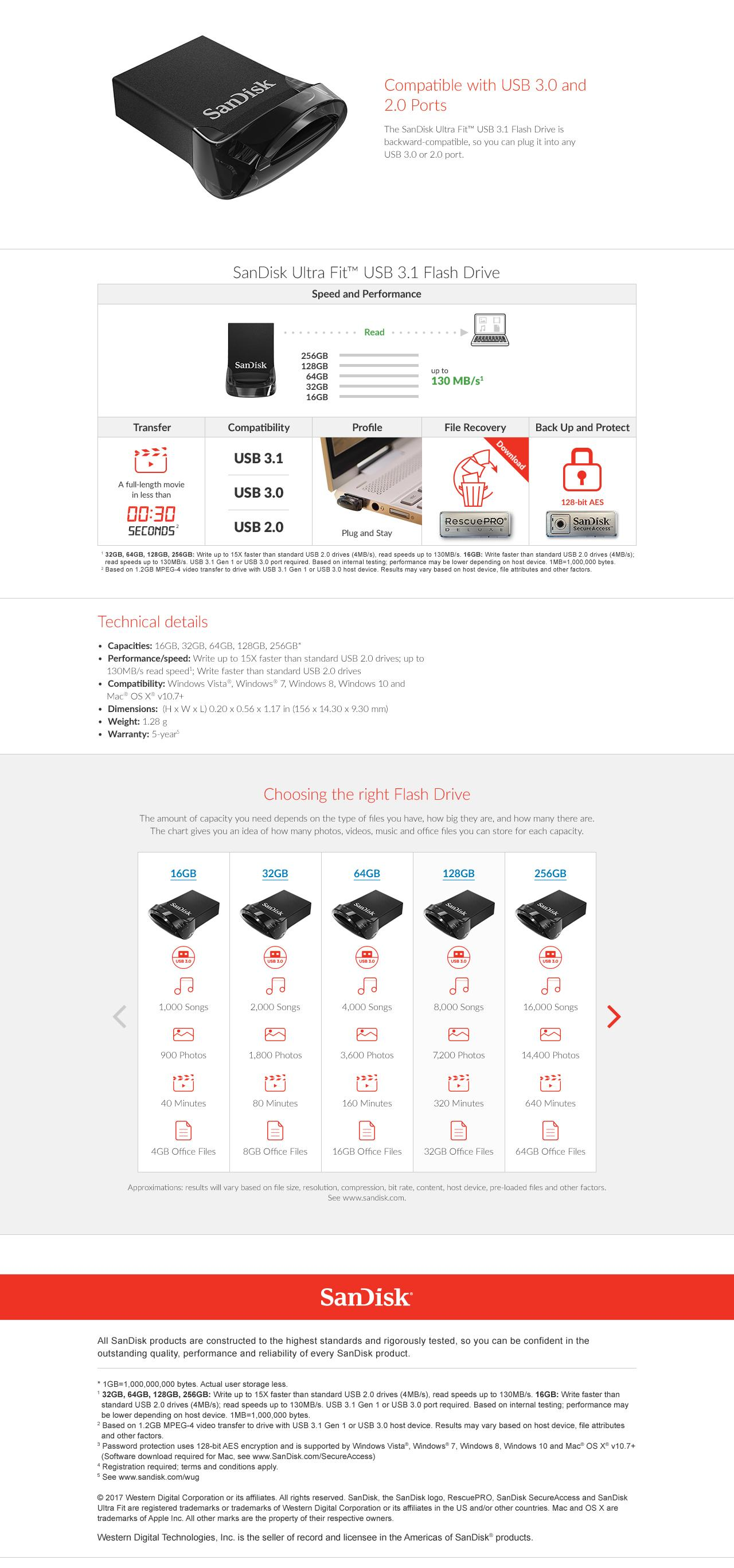 Sandisk Ultra Fit 32gb Usb 31 Flash Drive Singapore 16gb 130mb S Cz430 Specifications Of