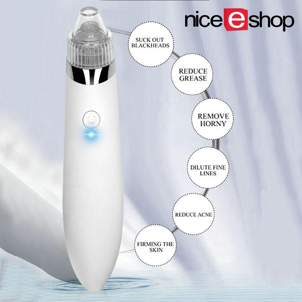 The New Price Of Face Pore Cleaner Blackhead Remover Instrument Facial Niceeshopelectric Peeling Acne Comedo Vacuum Electric Machinewhite
