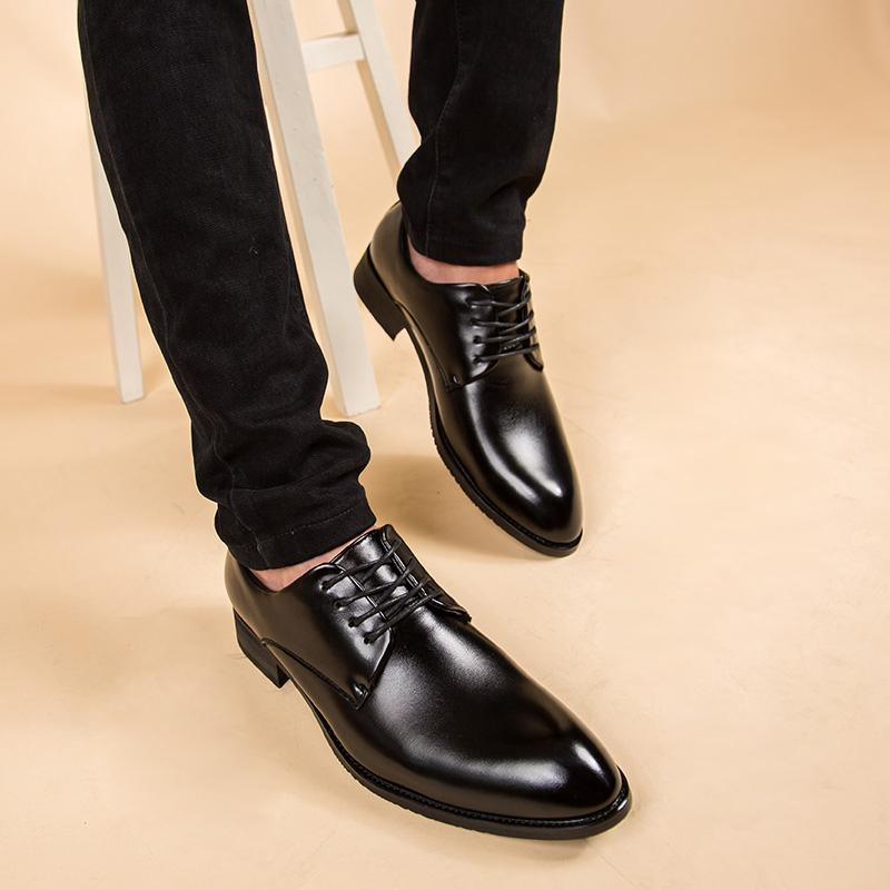 The British Nappa Leather black male men shoes men's leather shoes