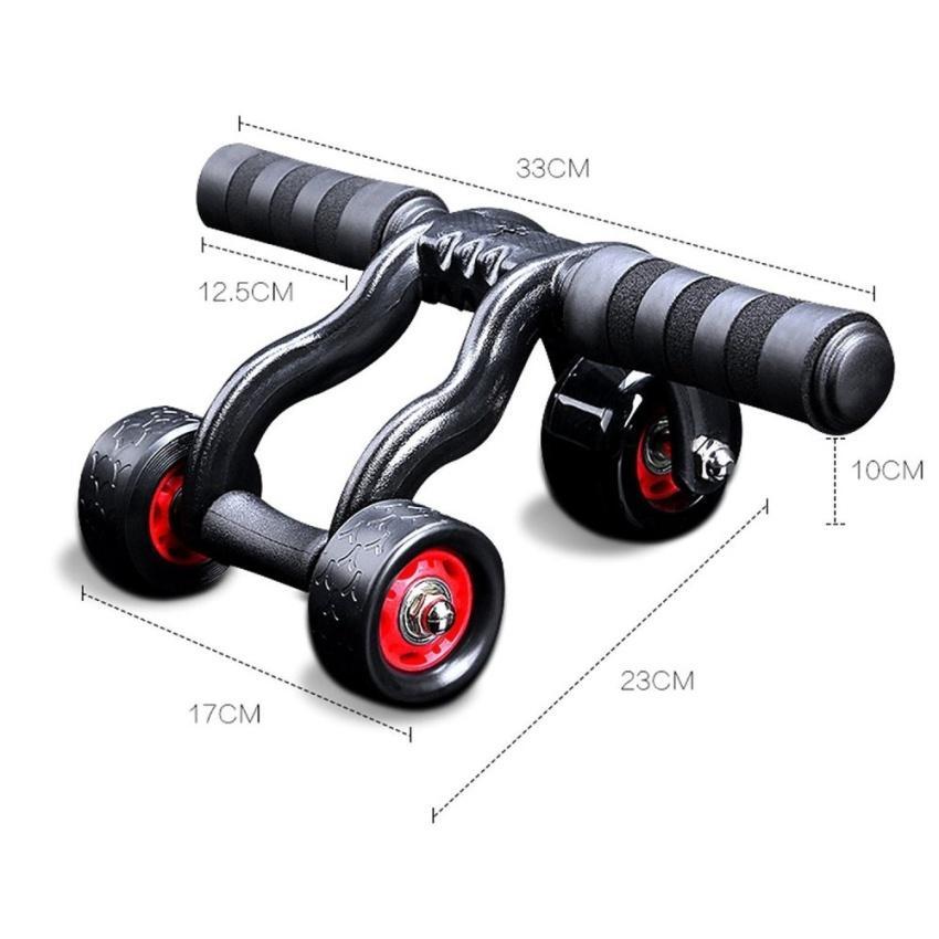 sportsco tri core ab wheel roller black sg lazada. Black Bedroom Furniture Sets. Home Design Ideas