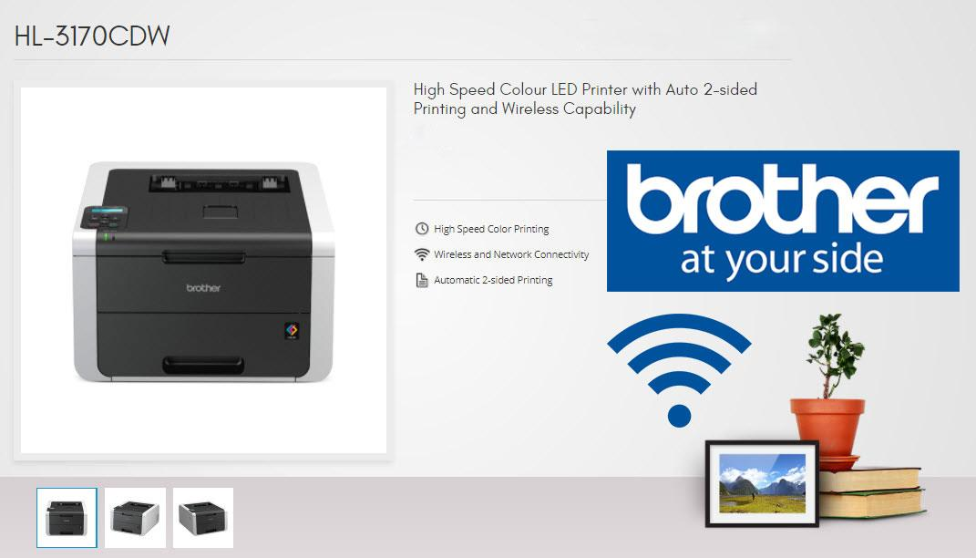 BROTHER HL-3170CDW High Speed Colour LED Printer with Auto 2-sided Printing  and Wireless Capability with 3 Years Onsite Warranty Singapore