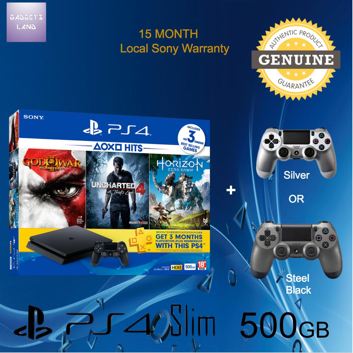 Playstation 4 Slim 500gb Cuh 2006a B01 Jet Black Batman 3 Beyond Sony Garansi Hits Bundle Ps4 With 15 Months Warranty And Extra Controller