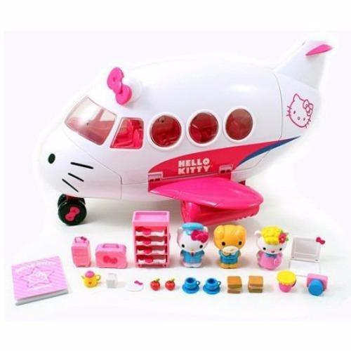 Jada Toys Hello Kitty Jet Plane Play Set Die-cast Genuine License Product White Model Collection Christmas New Gift