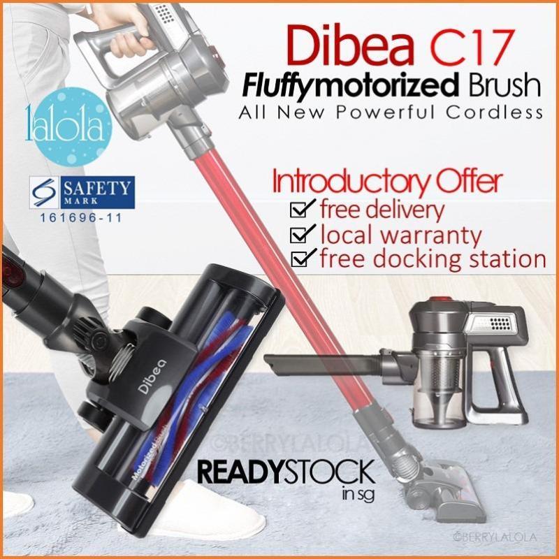 [Official Dibea Singapore) C17 Cordless Vacuum 2 In 1 8 SAFETY MARK LOCAT SET Singapore