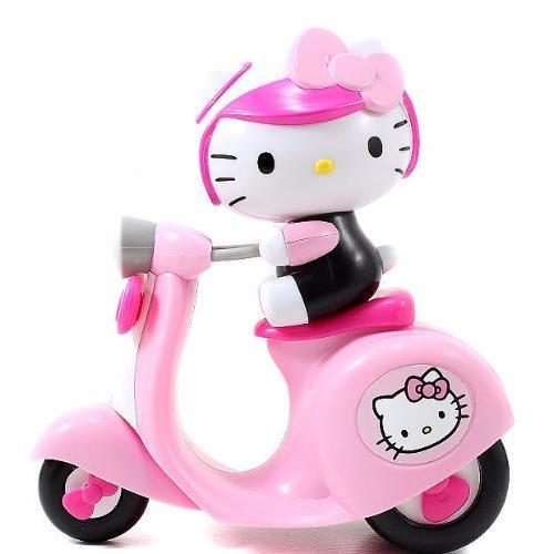 Jada Toys Hello Kitty Push Along Scooter Die-cast Genuine License Product Pink Model Collection Christmas New Gift