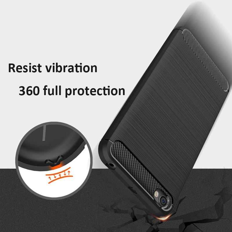 TPU Shockproof Lined Case for Xiaomi Redmi Note 5A  (Black)