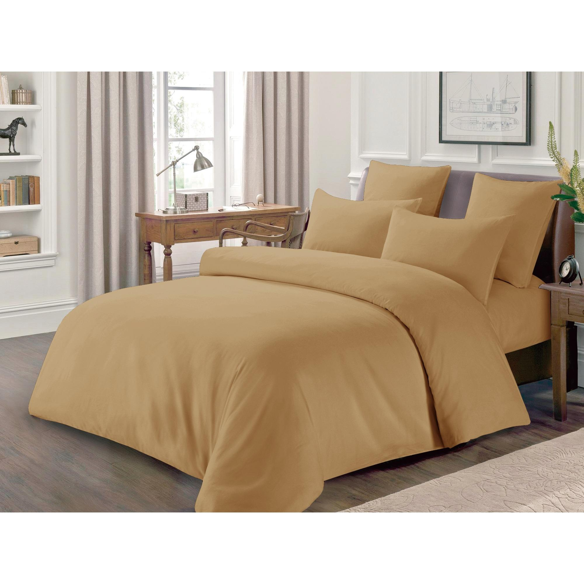 Solid color (Beige) Luxury look Hotel Collection 100% Pure cotton bed sheet sets