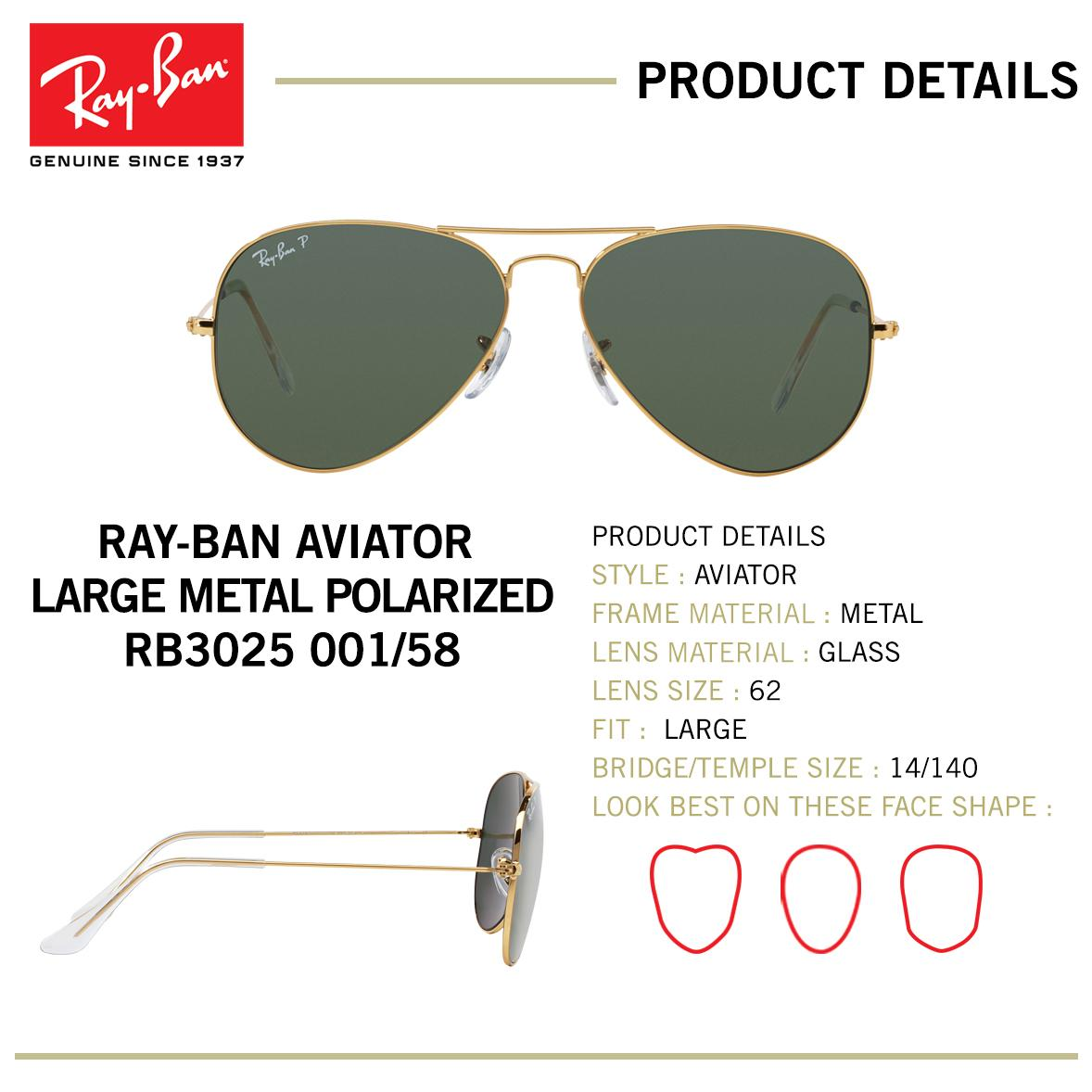 36eea617f91 Ray Ban Aviators 58 Vs 62 « One More Soul