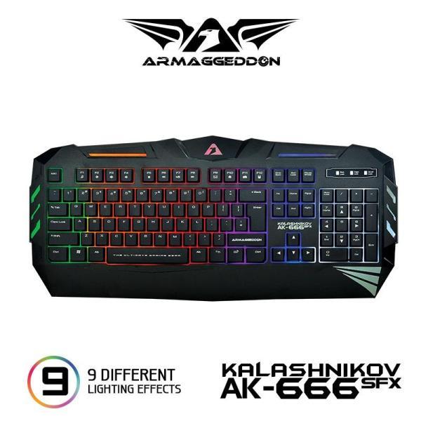 Armaggeddon AK-666SFXv Spill Proof Gaming Keyboard Singapore