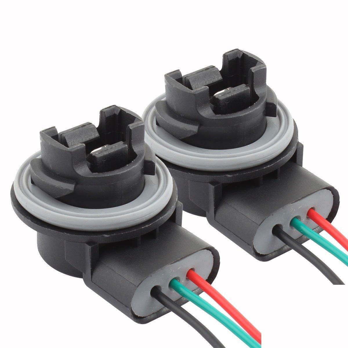 Motorcycle Lighting For Sale Parts Online Universal Wiring Harness 2pcs 3157 Sockets Female Adapter Turn Signal Reverse Light Bulbs Socket