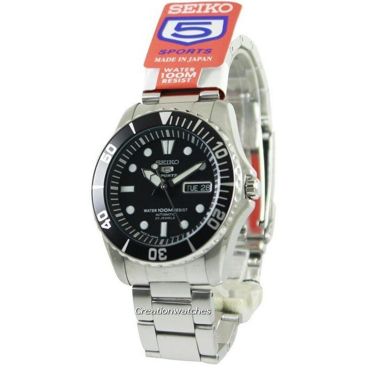 Seiko Automatic Divers 23 Jewels 100m Made In Japan Men's Silver Tone Stainless Steel Bracelet Watch