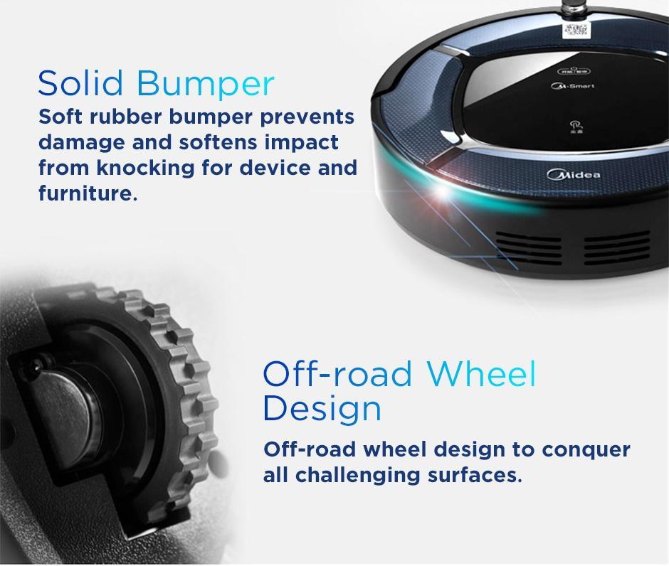 Midea Mvcrtb2b Smart Robotic Vacuum Cleaner W Hepa Filter