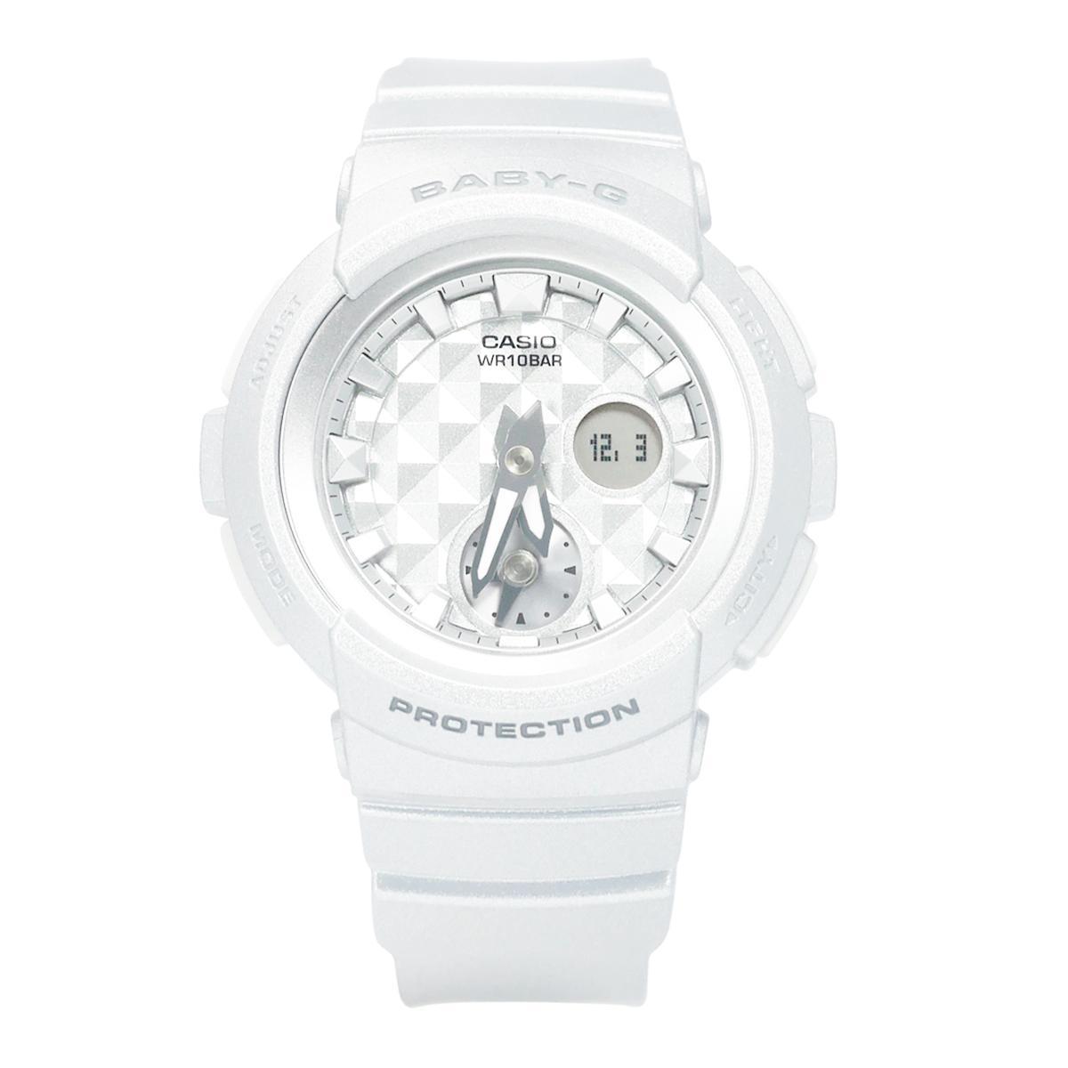 Affordable Casio Baby G Bga 195m 7a Striking Multi Dimensional Studs 210 7b3 Watch White Resin Case Strap Ladies 195