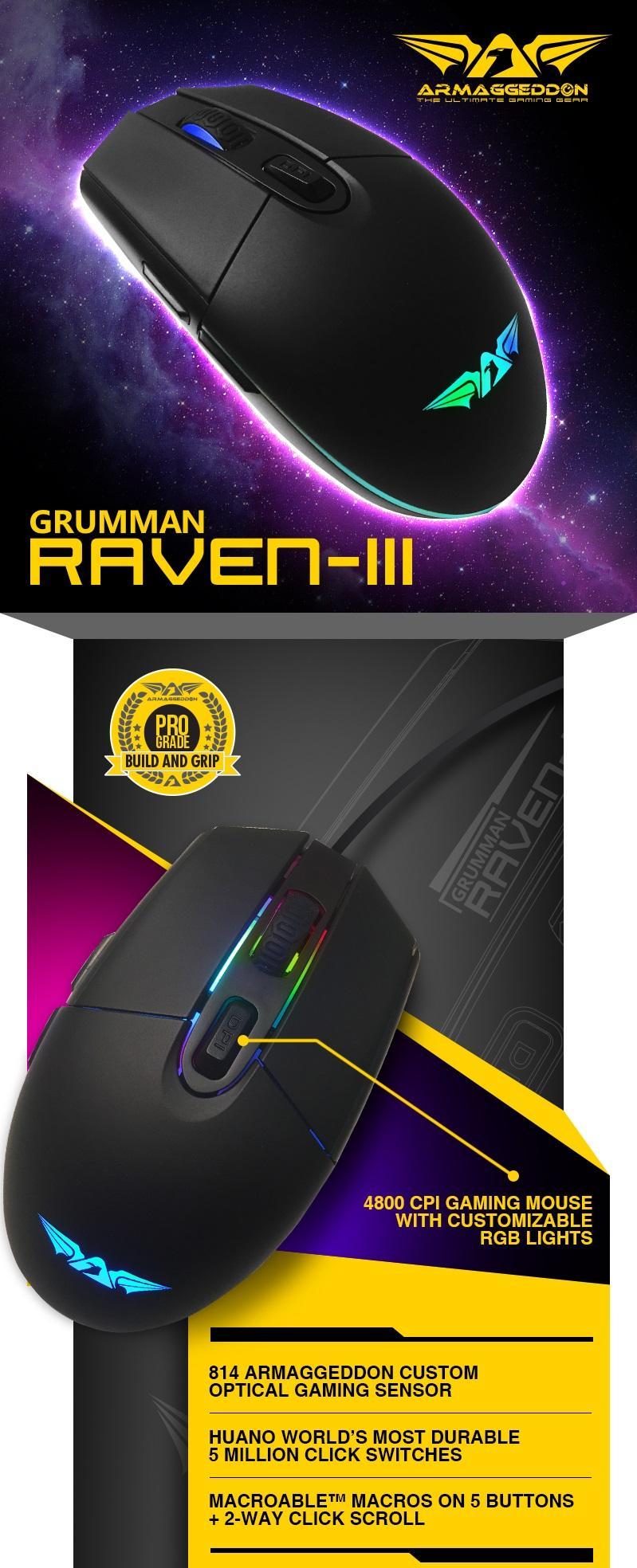 Armaggeddon Gaming Bundle E Sports Pro Kitmouse Keyboard Mousemat Mka 3c Psychfalcon Edm Raven Iii 01