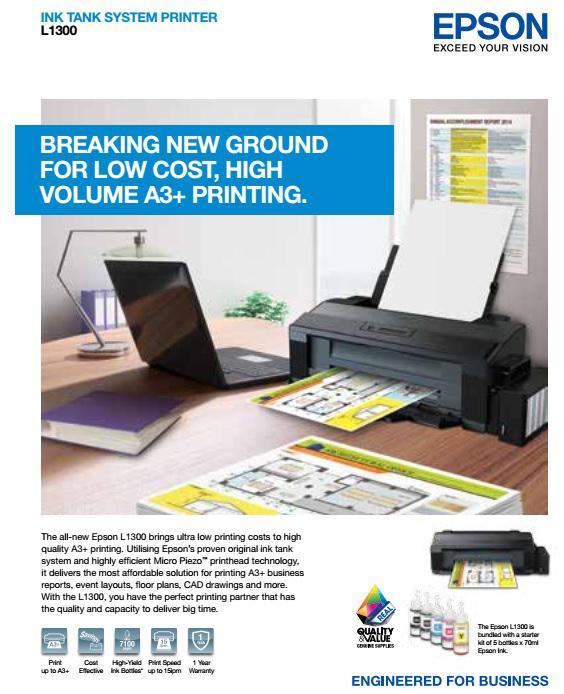 Epson L1300 A3 Ink Tank Printer Singapore