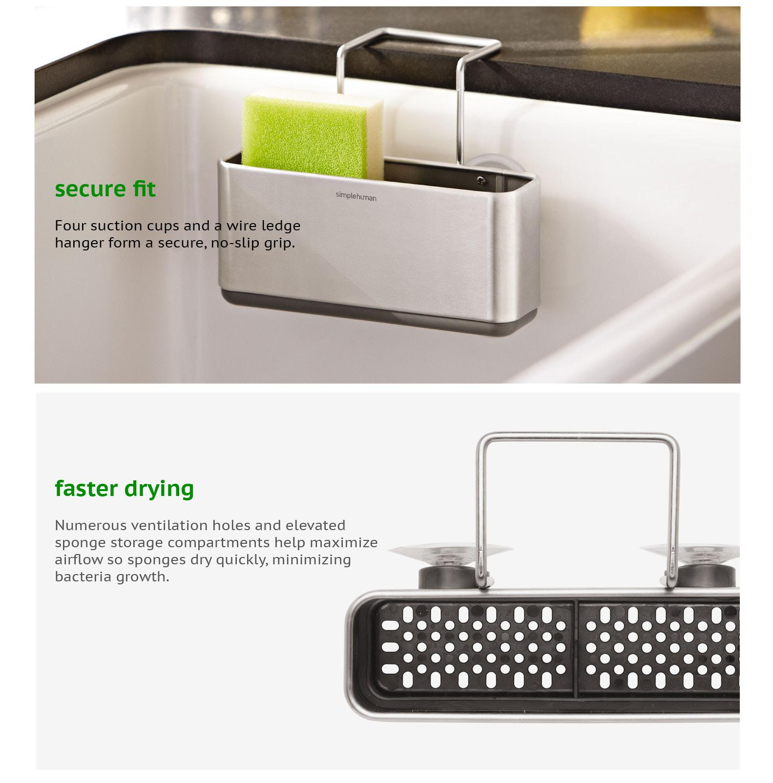 Specifications Of Simplehuman Slim Sink Caddy (Brushed Stainless Steel)