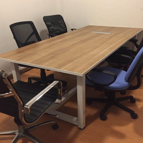 2.0m Rectangular Conference Table (Col. Cappuccino)