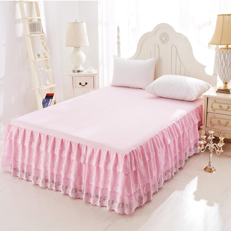 Nan Ji Ren solid color one-piece thickened bed sheets bed skirt