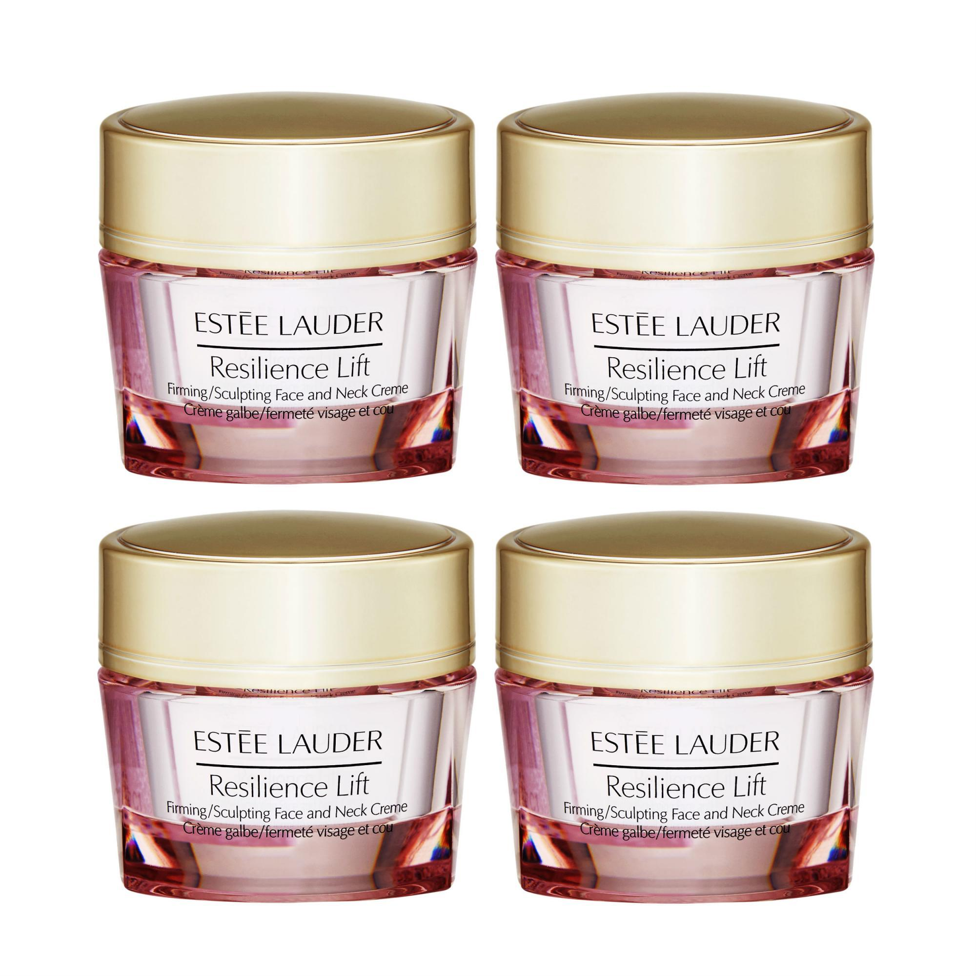 4 x Estee Lauder Resilience Lift Firming/Sculpting Face and Neck Creme 15ml/0.5oz - intl