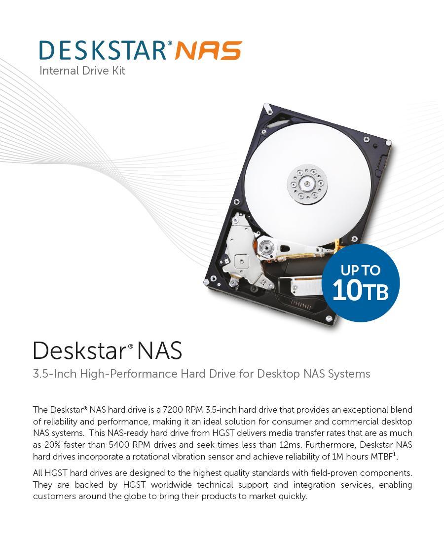 Hgst Deskstar Nas 7200rpm Sata Iii Internal Nas Desktop Hard Drive Singapore