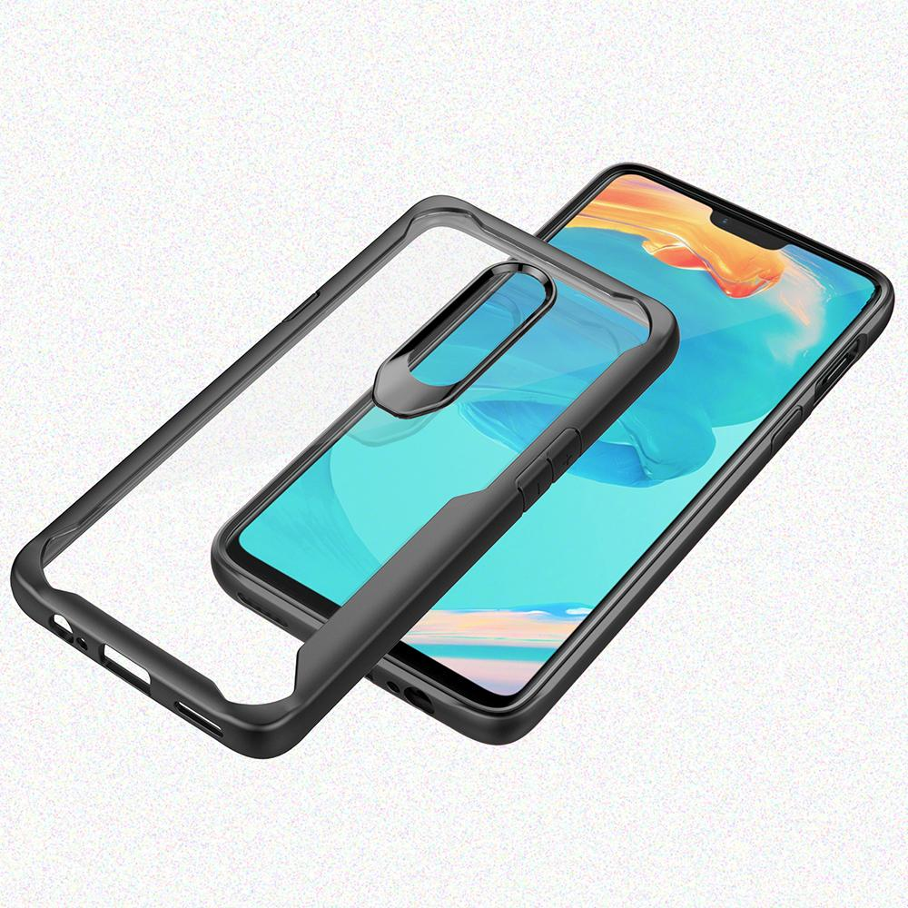Image of Product Windcase Fexible TPU Frame with Transparent PC Back Case Cover for OnePlus 6 (As Shown) The Update