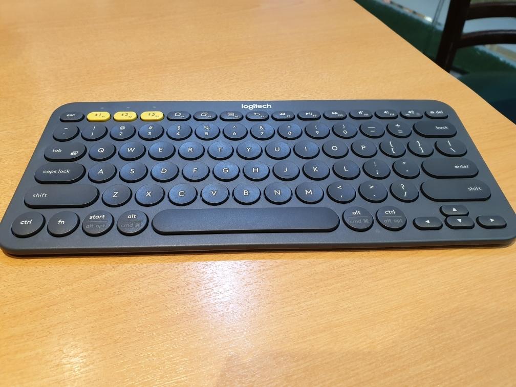 Logitech K380 Multi-Device Bluetooth Keyboard K 380 Blue tooth Black Blue KB