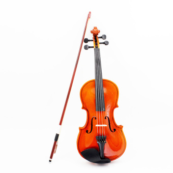 1/8 Violin Fiddle Basswood Steel String Arbor Bow Stringed Instrument Musical Toy for Kids Beginners
