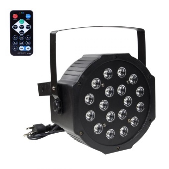 1 Piece 18 LED Light RGB 7 CH Stage Lighting DMX512 with Remote Control KTV Bars Party Flat Par Lamp US - intl