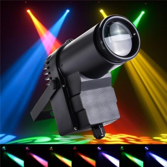 30W RGBW LED DMX512 Stage Lighting Pinspot Beam Spotlight 6CH DJ DISCO Party KTV US - intl