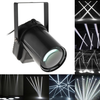 1pc Black 3W LED White Beam Pins Pot Light Spotlight 200-220LM Stage Lighting Effect for DJ Disco / KTV / Bar