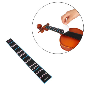 4/4 Violin Fiddle Finger Guide Fingerboard Sticker Label Intonation Chart Fretboard Marker for Practice Beginners - intl