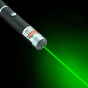5mw 532nm Powerful Military Visible Light Beam Green/Red Light Pointer Pen Green - intl
