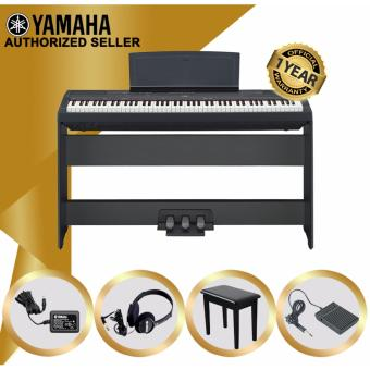 Authorized Seller - Yamaha P-115 Digital Piano (Black) - With Piano Stand & Bench