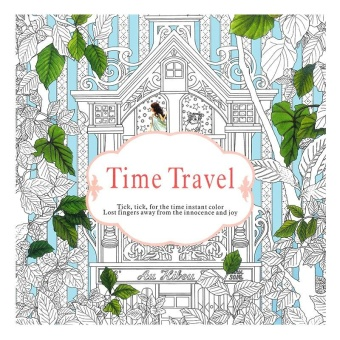 Children Adult English Time Travel Treasure Relax Coloring Book