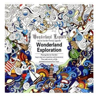 Children Adult English Wonderland Exploration Treasure Relax Coloring Book