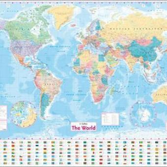 Harga Collins World Wall Laminated Map (Author: Collins Maps, ISBN: 9780008211561)