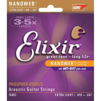 Elixir Strings Extra Light 16002 (.010-.047) Phosphor Bronze