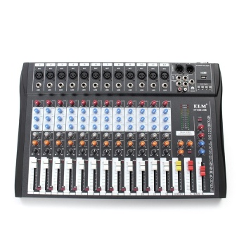 ELM CT-120S 12 Channel Professional Live Studio Audio Mixer USB Mixing Console Black - intl