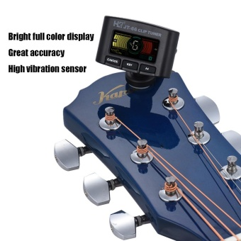 Harga Multi-functional Clip Tuner Guitar Bass Violin Ukelele Chromatic Tuning Mode with Colorful Display for Most Musical Instruments Outdoorfree - intl