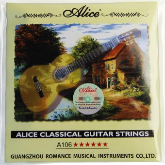 Harga NEW Alice Classical Guitar Strings A106 /Clear Nylon Strings One Set - intl