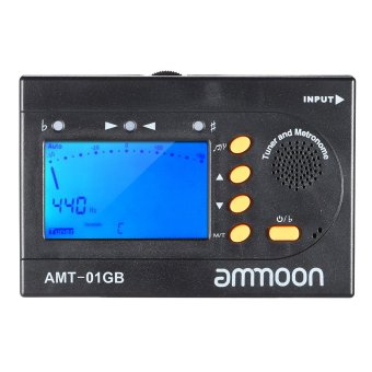 Harga ammoon AMT-01GB Multifunctional 3in1 Digital Tuner Metronome Tone Generator Universal Portable for Chromatic Guitar Bass Violin (EXPORT)