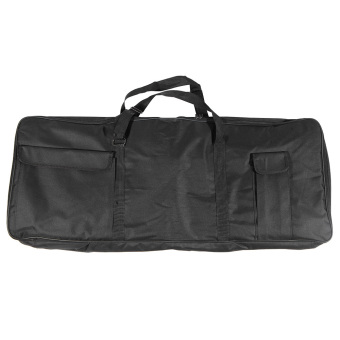 "Harga 61-Key Keyboard Electric Piano Organ Gig Bag Soft Case Dual Zipper 39.3"" × 15.7"" 600D Cloth PE Foam Padded (EXPORT) - Intl"