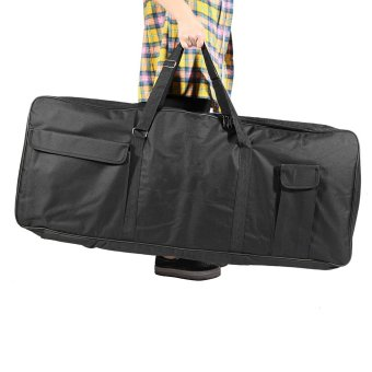 "Harga 61-Key Keyboard Electric Piano Organ Gig Bag Soft Case Dual Zipper 39.3"" × 15.7"" 600D Cloth PE Foam Padded Keyboard Bag"