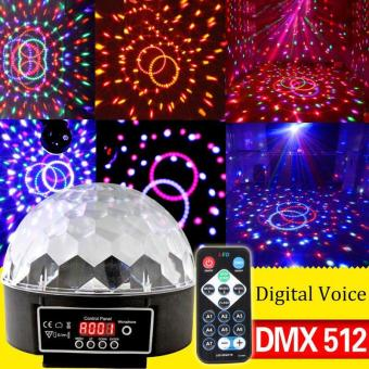 LED RGB Crystal Magic Ball Effect Light Disco DJ Stage Lighting - intl